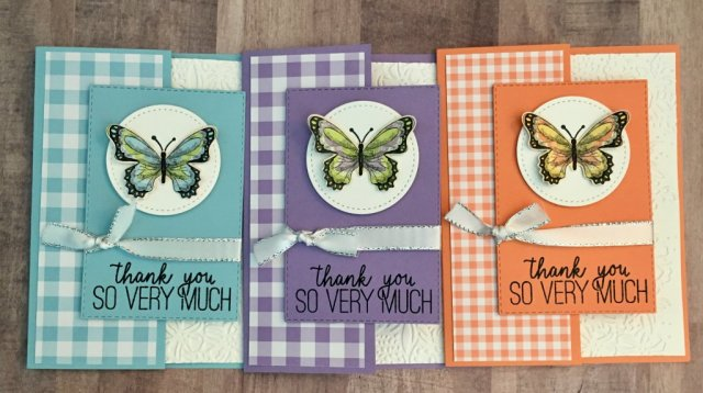 Botanical Butterflies and Gala Gingham Designer Series Paper, one design three looks.